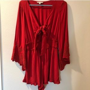 American Eagle Outfitters Red Romper🌹❤️